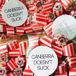 Canberra Doesn't Suck Lollies - FREE Shipping