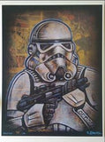 "David Lizanetz Signed ""Storm Trooper"" Star Wars LE Comic Art"