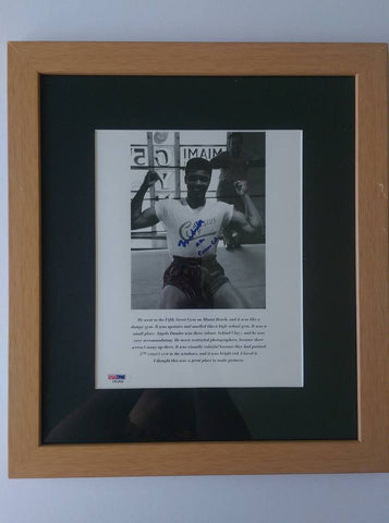 Rare signed Cassius clay and Muhammad Ali framed