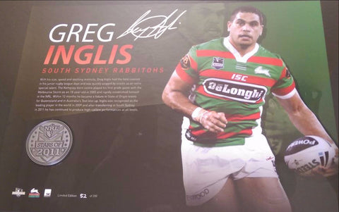 Greg Inglis signed NRL Player Medal memorabilia