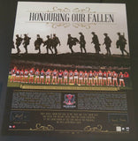 "Melbourne F.C Hand Signed ""Honouring Our Fallen Anzac Day"" Tribute Memorabilia"