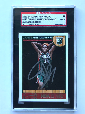 2013-14 Giants Antetokounmpo Rookie Auto Hopps Authenticated