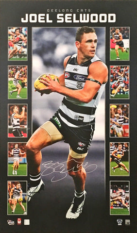 Joel Selwood signed Geelong Cats Limited Edition official AFL memorabilia