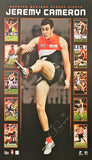 Jeremy Cameron signed AFL GWS Giants memorabilia