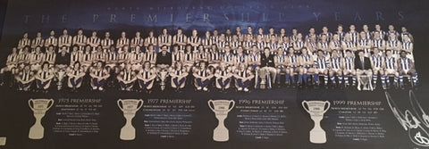 Wayne Carey signed North Melbourne Premiership Years Montage memorabilia