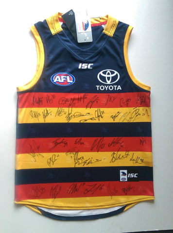 Adelaide Crows 2017 Team signed home Guernsey