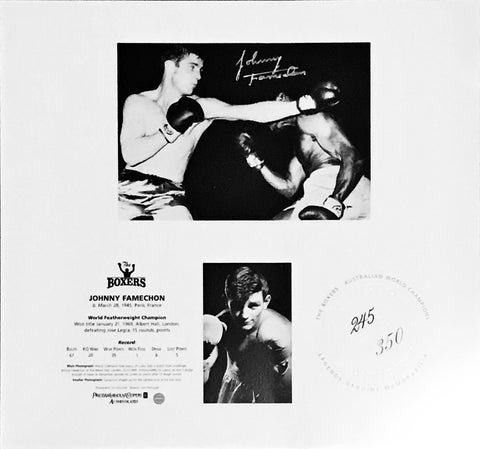 Johnny Famechon signed The Boxers Memorabilia