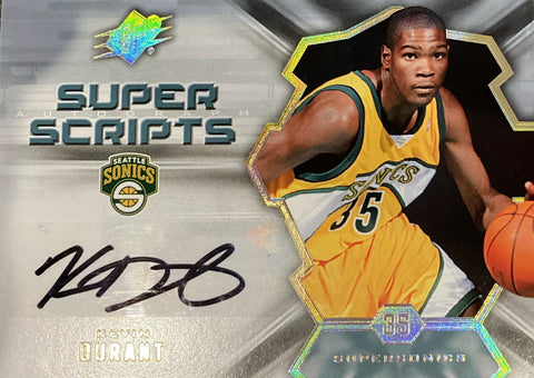 Kevin Durant super scripts rookie auto