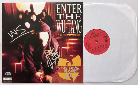 "Multi Signed ""Enter The Wu-Tang"" Vinyl Record Album (Beckett LOA)"