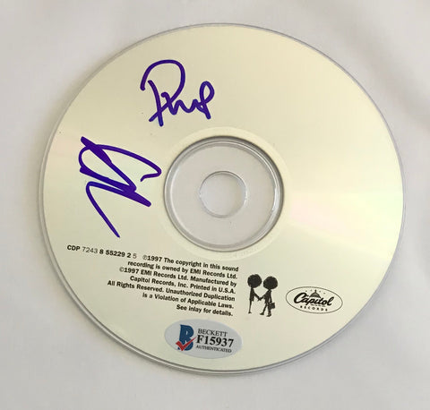 "Philip Selway & Ed O'Brien Signed Radiohead ""OK Computer"" CD Disk"