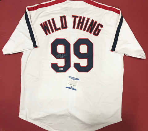 "Charlie Sheen Signed ""Wild Thing"" Jersey"
