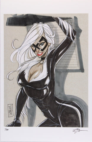 Cat woman limited edition hand signed lithograph
