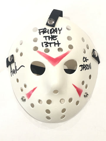 Signed and inscribed Jason mask by the original Jason- Ari Lehman