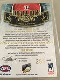 Tom lynch signed afl draft card