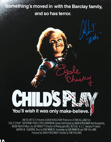 Multi Signed Chucky movie poster.
