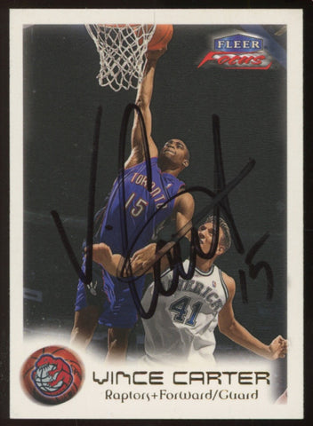 Vince carter signed Fleer focus card rare original JSA