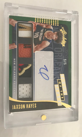 NBA Panini Absolute Jaxon Hayes RC auto Quad Patch /5