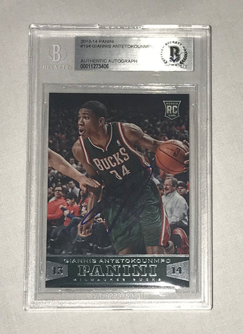 Giannis Antetokounmpo signed 2013-14 Rookie card