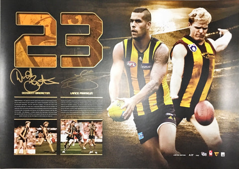 Buddy franklin and Dermott Brereton signed memorabilia