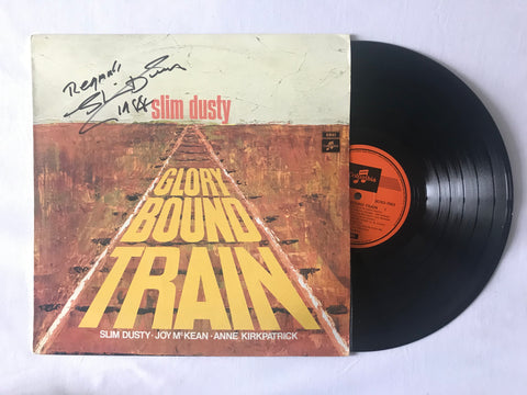 Signed and inscribed Slim Dusty record album