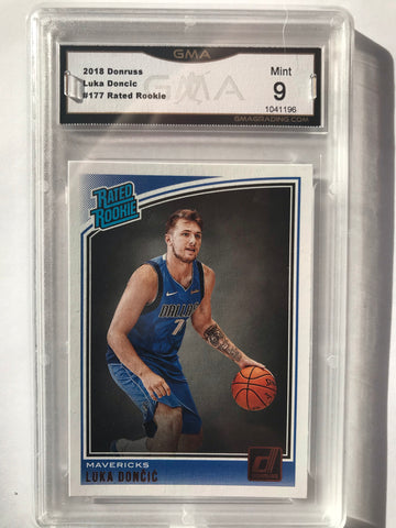 Luka Doncic rated rookie 9 Mint RC