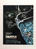 Signed Chucky movie poster