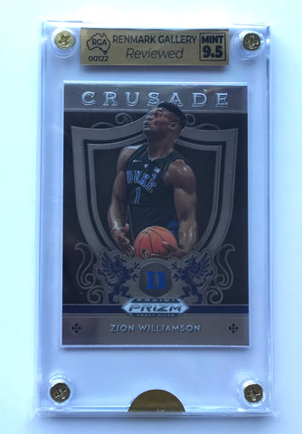 Zion Williamson Panini Crusade RC 9.5