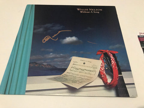 Willie Nelson signed Without a song original album