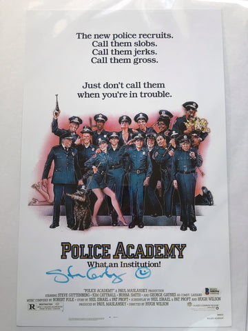 Police Academy signed movie poster
