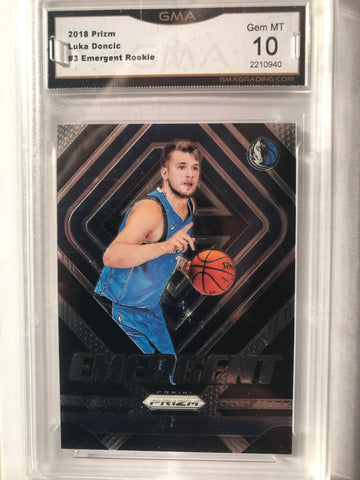 Luka Doncic Emergent rookie mint 10