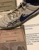 Lance buddy franklin game worn and signed Nike football boots