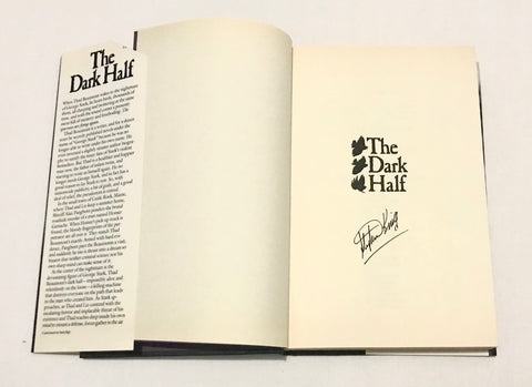 Stephen King signed The dark half book