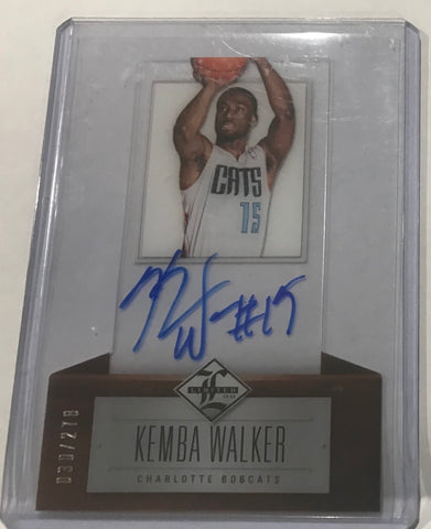 Kemba Walker signed rookie card