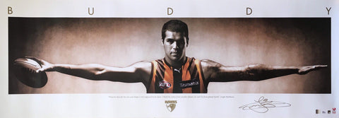 Lance buddy Franklin signed wings poster large