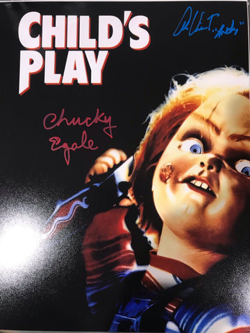 Multi signed chucky movie poster