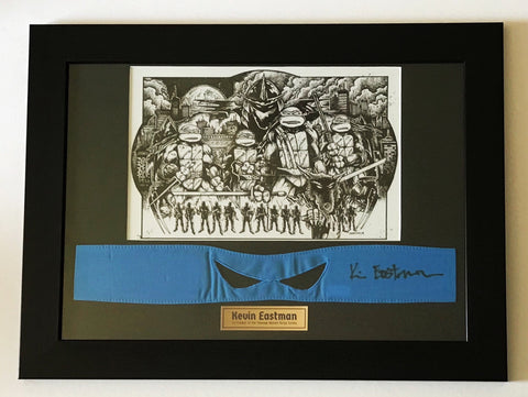Kevin Eastman signed framed TMNT Teenage Mutant Ninja Turtles Memorabilia