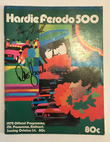 Signed Peter Brock and Harry Firth 1972 Bathurst programme