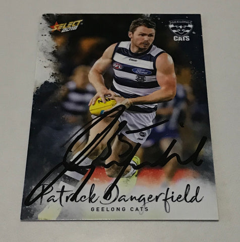 Signed Patrick Dangerfield AFL select card