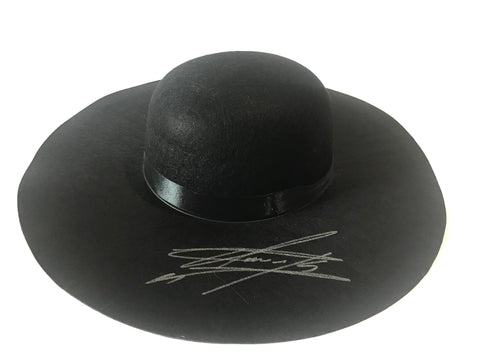 The Undertaker Signed Wide Brim Open Crown Hat