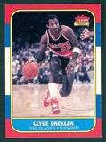 • Clyde Drexler 1986-87 Fleer #26 RC
