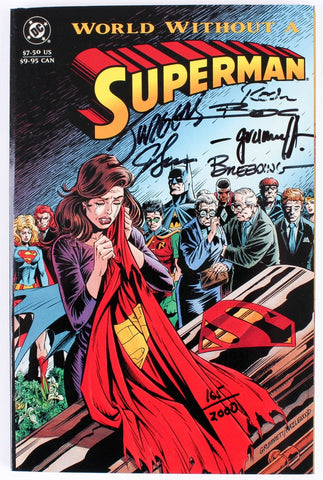 """Superman 1993 LE Graphic Novel Signed by 6 Artists"