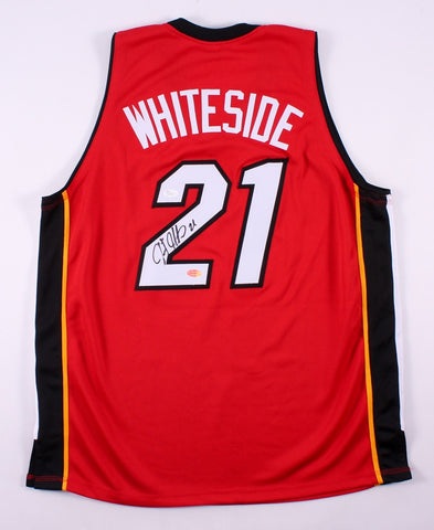 Hassan Whiteside Signed Heat Jersey