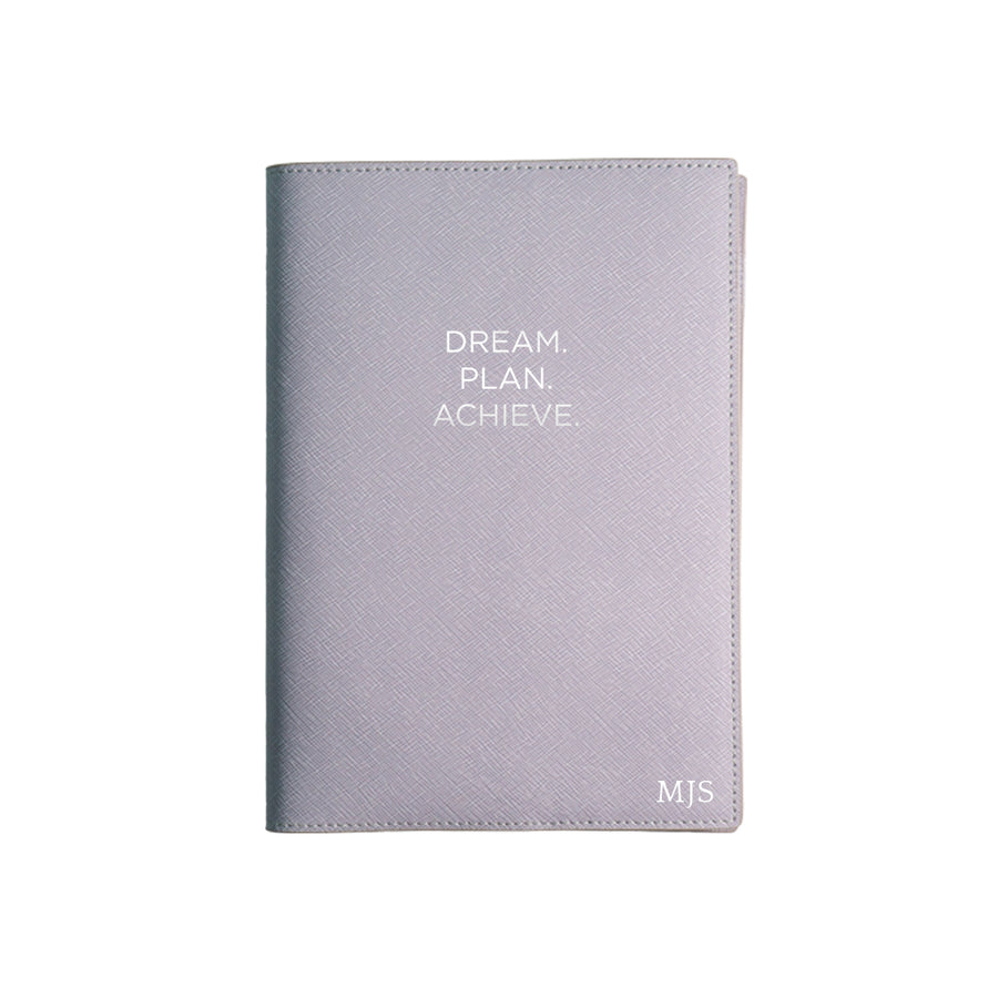 Purple Dream Plan Achieve Leather Cover Planner