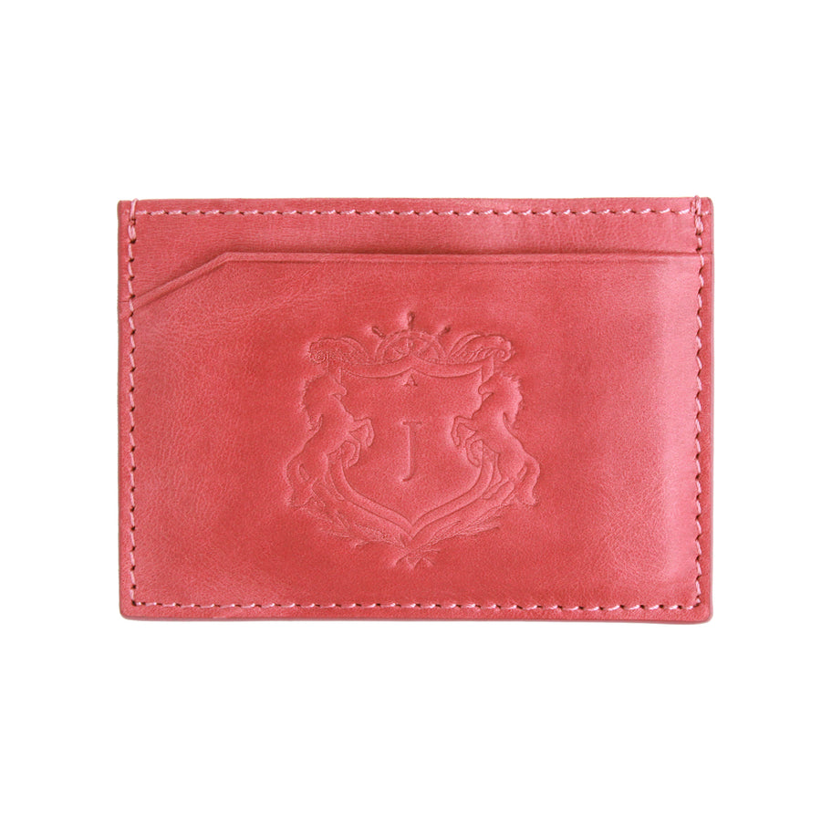 Dusty Pink Canvas Cardholder - Emblems