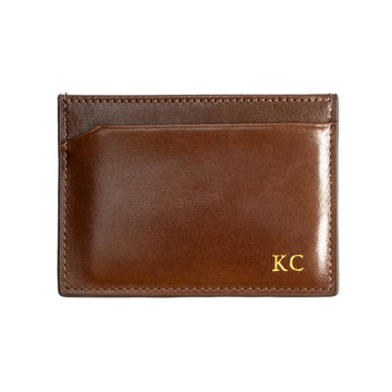 Brown Canvas Cardholder - Initials