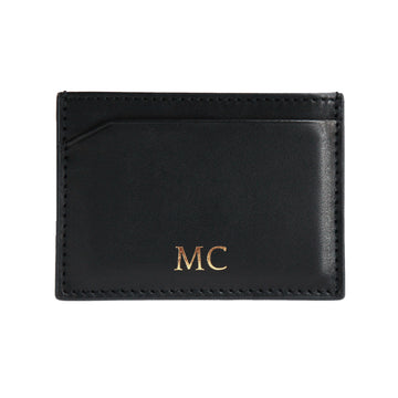 Black Canvas Cardholder - Initials
