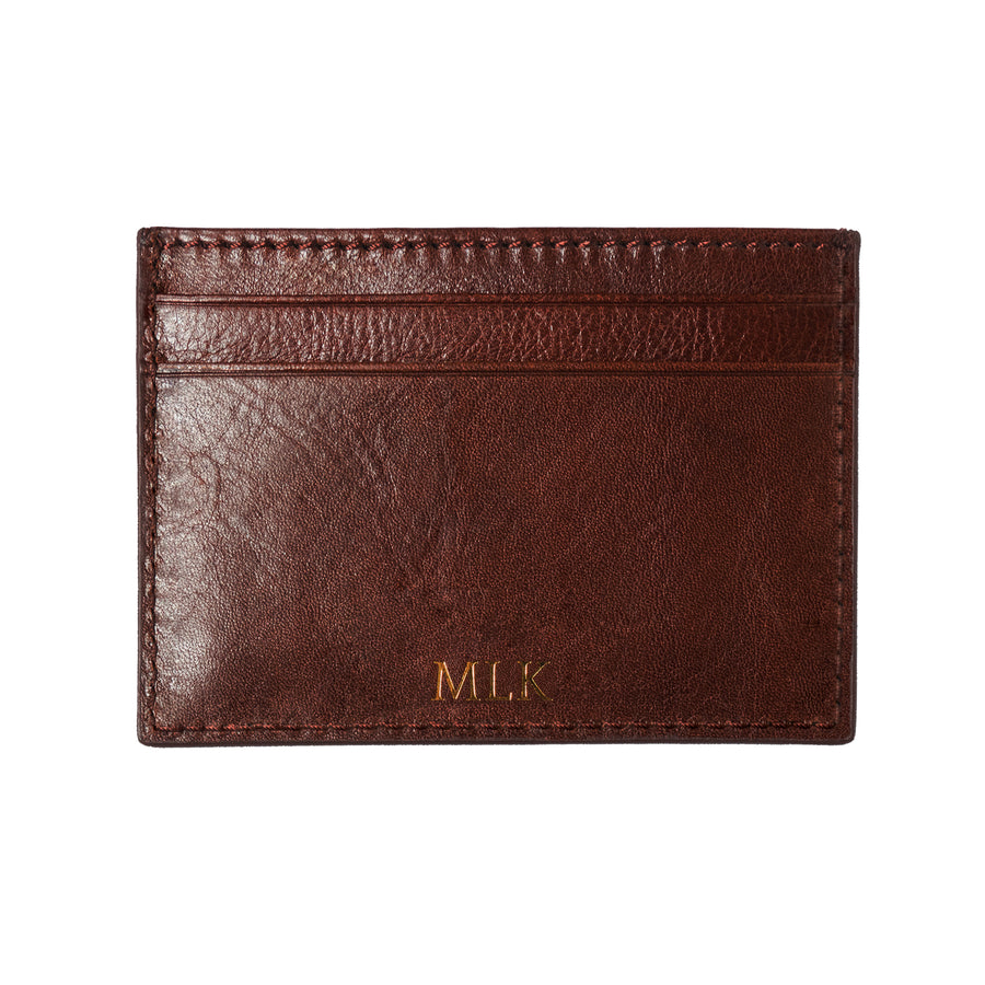 Brown Photoframe Cardholder - Initials