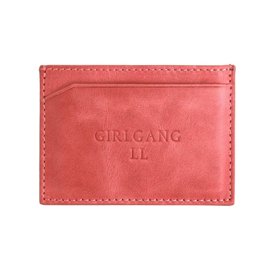 Dusty Pink Canvas Cardholder - Statements & Initials