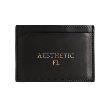 Black Canvas Cardholder - Statement and Initials