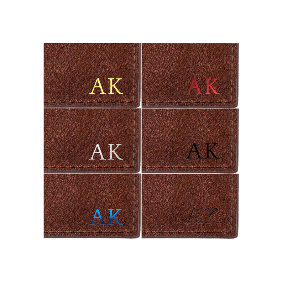 Brown Photoframe Cardholder - Statements & Initials